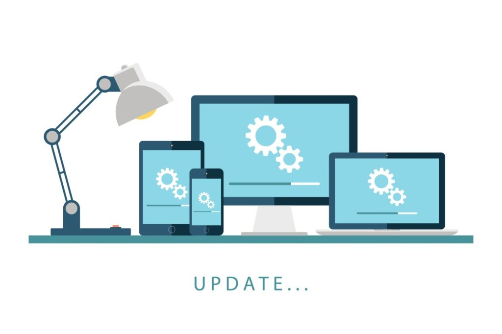 image of devices updating on an operating system.