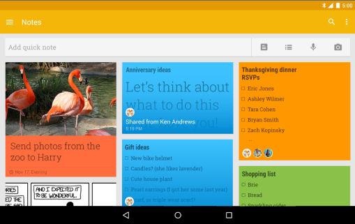 Android Google Keep App