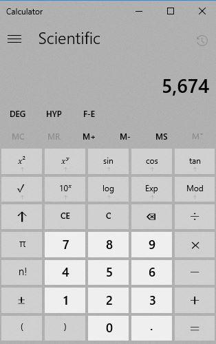 Microsoft Windows Calculator