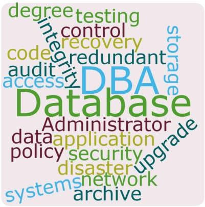 Database Administrator Word Cloud