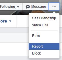 Facebook Report Clone Account