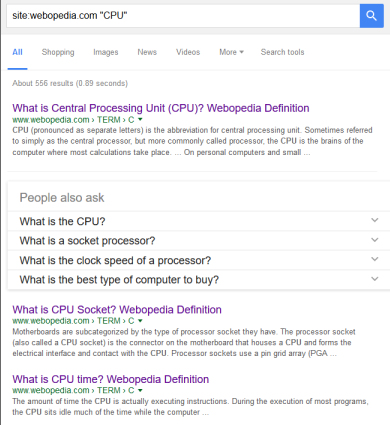 Google Shortcut - Site Search