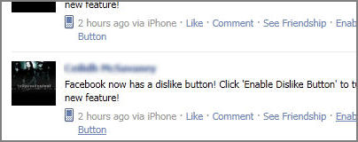 Facebook Scam: Enable Dislike