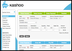 SOHO Business Accounting and Finance Software - Kashoo Online Accounting Software