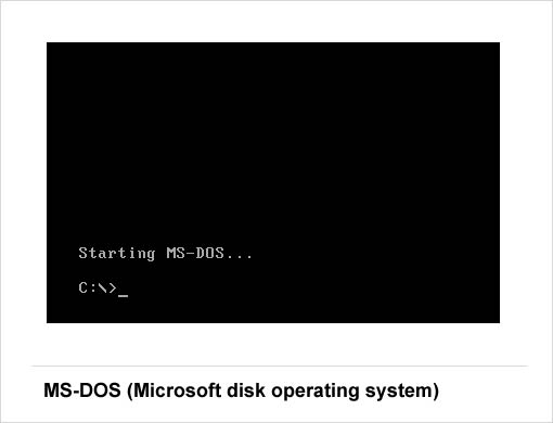 Windows OS MS-DOS