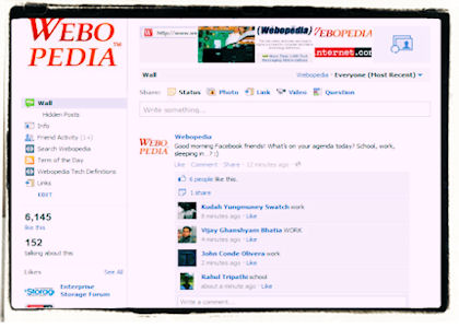 Webopedia Facebook Screenshot