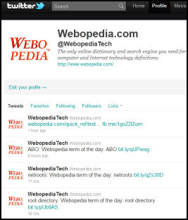 Webopedia Tech on Twitter