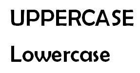 Uppercase Text