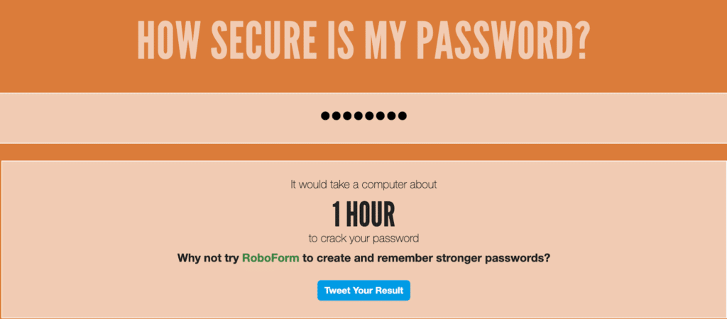 Image describing how long it would take to crack a password.