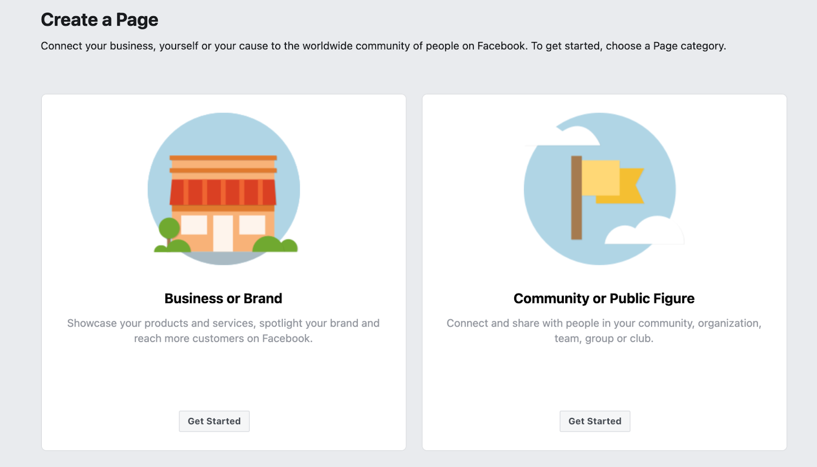 Choose a category for your page on screen on How to Publish a Facebook Page.