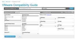 vmware compatibility guide