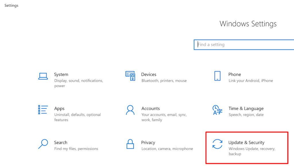 Recovery Option in Settings Menu Windows—how to clean hard drive.