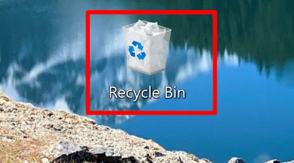 The recycle bin icon on Windows computers.