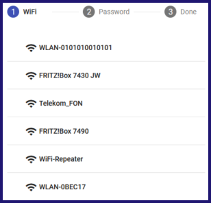 A list of SSIDs