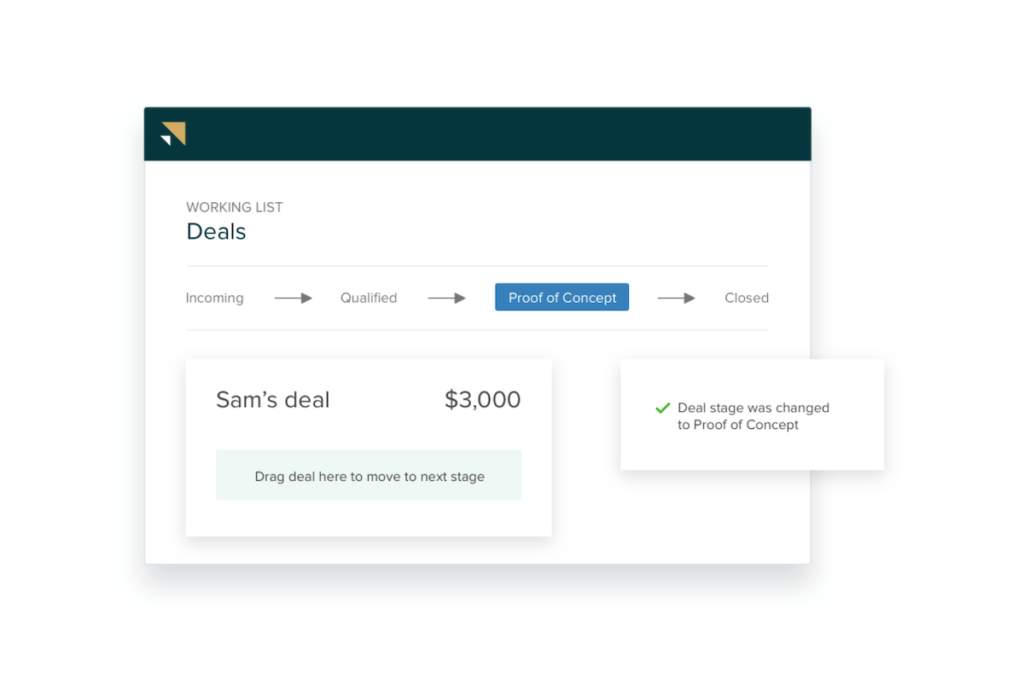 Deal stage tracking in Zendesk Sell.