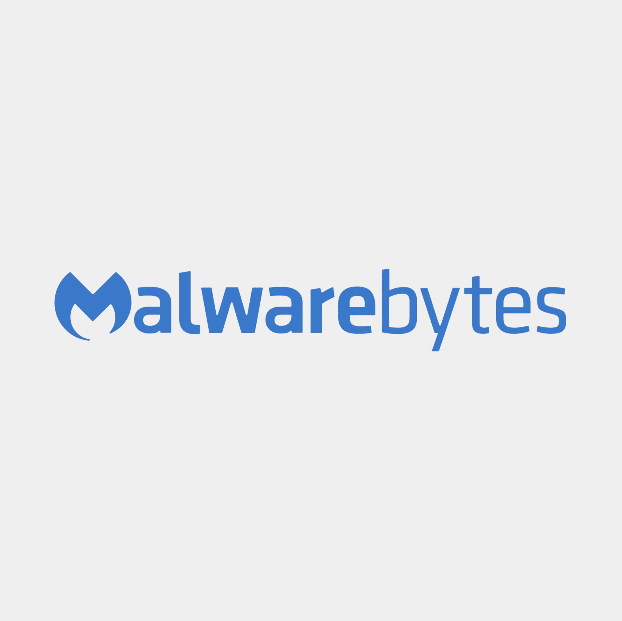 The logo for Malwarebytes.